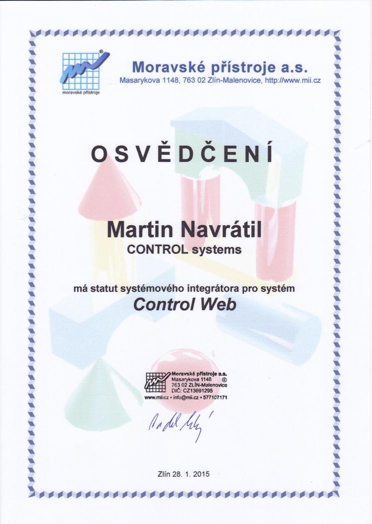Control Web - integrátor